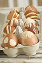 Painted Easter eggs in egg carton - ASF005163