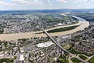 Germany, Rhineland-Palatinate, Weissenthurm Neuwied, Bridge above River Rhine, aerial photo - CSF019952