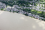 Germany, Rhineland-Palatinate, High water of River Rhine at Koblenz Pfaffendorf, aerial photo - CS019958