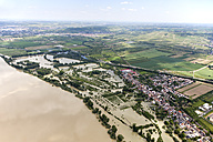 Germany, Rhineland-Palatinate, High water of River Rhine at Kempten, aerial photo - CS019967