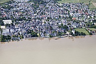 Germany, Hesse, High water of River Rhine at Eltville, aerial photo - CS019974