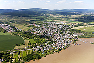 Germany, Hesse, High water of River Rhine near Wiesbaden, aerial photo - CSF019977