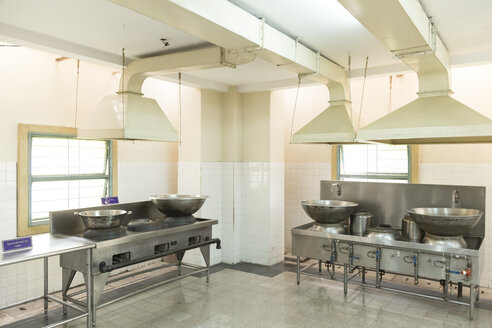 Cambodia, Phnom Penh, kitchen in the presidential palace in Ho Chi Minh City - DR000200