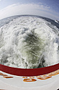 Germany, Lower Saxony, East Frisia, Langeoog, ferry boat on the way - JATF000304