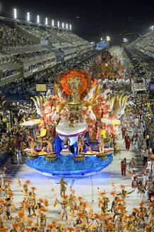 Brasil, Rio de Janeiro, Carnival float at Sambadromo - FLK000002