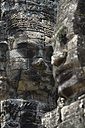 Asia, Cambodia, Siem Reap, Angkor Thom, face tower with faces of Bodhisattva - FLK000065