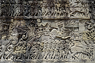 Asia, Cambodia, Angkor Thom, relief on a wall - FLK000064