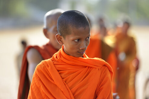 Cambodia, Takeo Province, Lompong, Young Buddhistic monk - FLK000123