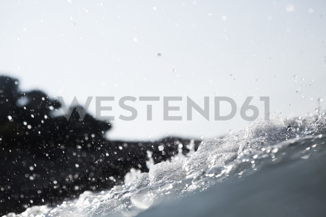 Croatia, Mediterranean Sea, ocean, water splash - FMKF000912