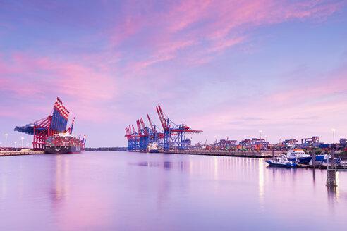 Gemany, Hamburg, Container harbour Waltershof - MS003015