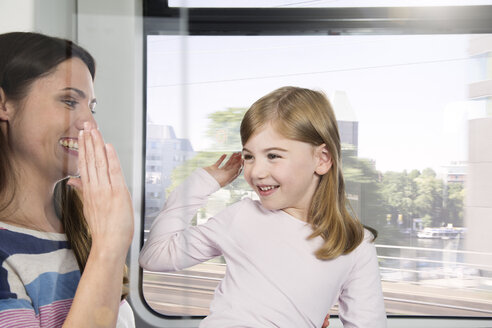 Mother and daughter in a train - KFF000262