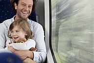 Father and daughter in a train - KFF000227