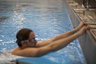 Backstroke swimmer starting - SEF000086