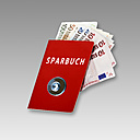 Bank book with vault button and Euro notes, Composing - CSF020034