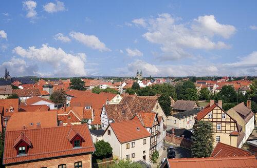 Germany, Saxony-Anhalt, Cityscape of Quedlinburg - ALE000073