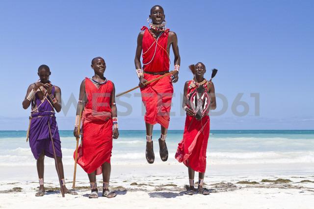 Africa, Kenya, Coast Province, District Kwale, Diani Beach, leaping dance of the Massai - WL000001