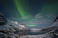 Norway, Province Troms, View of Aurora Borealis - PA000035
