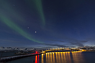 Norway, Province Troms, View of Aurora Borealis near Tromso - PA000044