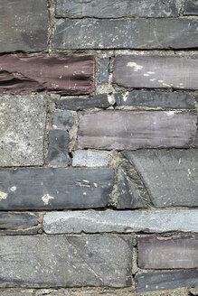 Great Britain, Wales, slate wall - ELF000542