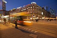 Germany, Hesse, Frankfurt, tram arriving at platform - AMF000960
