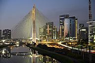 Brazil, Sao Paulo, district Morumbi, skyscrapers, Financial center, bridge Octavio Frias de Oliveira - FLKF000153
