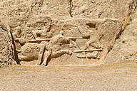 Iran, Fars, Naqsh-e Rostam, sassanid relief of the victory of king Hormozd II. - ES000599