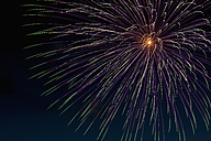 Fireworks exploding in the sky at night - KJF000273
