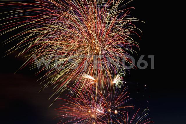 Fireworks exploding in the sky at night - KJF000266