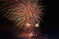 Fireworks exploding in the sky at night - KJF000266