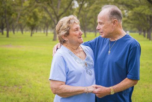 USA, Texas, Portrait of senior couple - ABAF001025