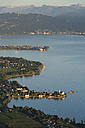 Germany, Bavaria, Lake Constance, Wasserburg, Lindau and Alps in background - SH000885
