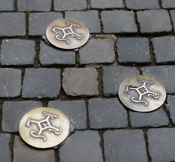 Germany, North Rhine-Westphalia, Aachen, Cathedral, memorial plaques - HL000258