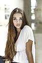 Portrait of serious looking teenage girl - GDF000243