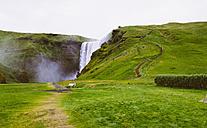 Iceland, Skogafoss Waterfall - MBEF000762
