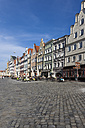 Germany, Bavaria, Landshut, old town, historic  buildings at pedestrian area - AM001013
