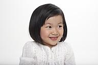 Portrait of little Asian girl, studio shot - FSF000079