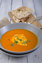 Pumpkin soup with roasted white bread - ODF000613