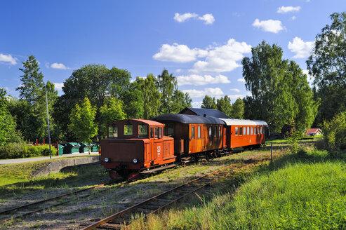 Sweden, Smaland, Kalmar laen, Vimmerby, Tuna, view at historical railway - BT000005