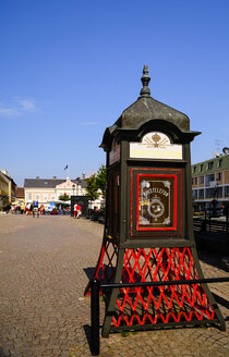 Sweden, Smaland, Vimmerby, Historical telephone booth - BT000084