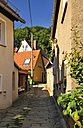 Germany, Saxony, Stadt Wehlen, Narrow alley and houses - BTF000249