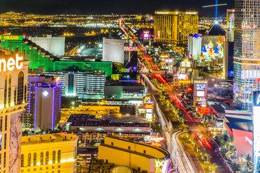 USA, Nevada, Las Vegas at night - ABAF001041