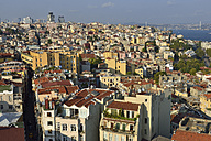 Turkey, Istanbul, view from Galata Tower over Beyoglu and Bosphorus - ES000697