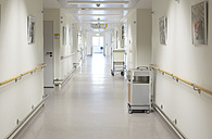Germany, Freiburg, View of empty hospital corridor - DHL000144