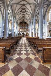 Germany, Bavaria, Altoetting, central aisle of collegiate church St Phillip and Jacob - AM001057