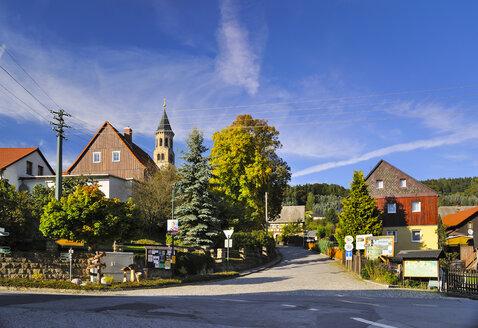 Germany, Saxony, Sebnitz, district Saupsdorf, Townscape - BTF000186