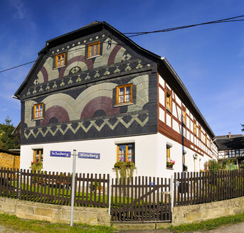Germany, Saxony, Sebnitz, district Saupsdorf, Historical Upper Lusatian house - BT000180