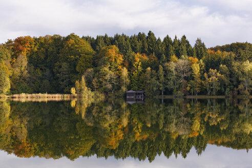 Germany, Upper Bavaria, Weilheim, View of Lake Haarsee - SIEF004601