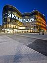 Germany, Hesse, Frankfurt, European Quarter, Skyline Plaza shopping center in the evening - AMF001072