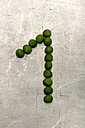 Peas forming number one on sheet metal - AWDF000693