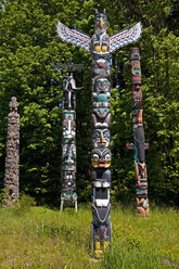 Canada, British Columbia, Vancouver, Totem pole's in the Stanley Park - UM000664